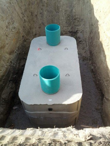 This is a concrete septic tank